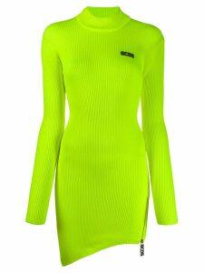 Gcds ribbed sweater dress - Yellow