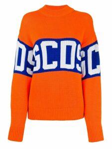 Gcds logo printed jumper - ORANGE