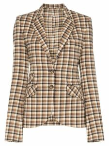 Paco Rabanne check fitted blazer - NEUTRALS