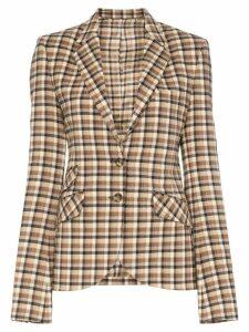 Paco Rabanne check fitted blazer - Neutrals