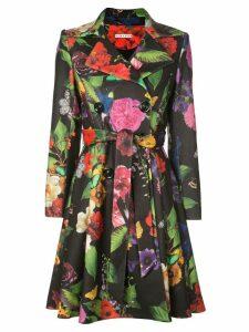 Alice+Olivia Leila floral print coat - Black