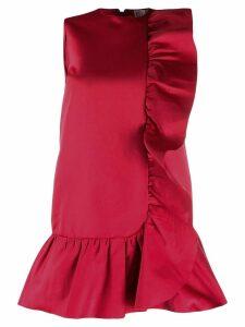 Red Valentino ruffled duchesse dress - Pink