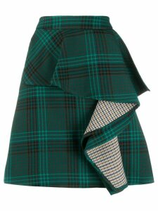 See By Chloé tartan draped skirt - Green
