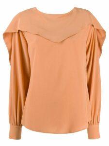 Erika Cavallini Carmen silk blouse - Neutrals