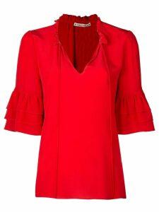 Alice+Olivia Julius ruffle sleeve blouse - Red
