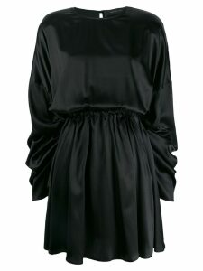 Federica Tosi ruched sleeve dress - Black