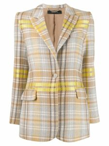 Federica Tosi check print single-breasted blazer - Neutrals