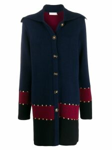 Tory Burch stud detail coat - Blue