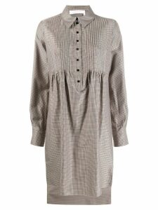 See By Chloé check smock shirt dress - Neutrals