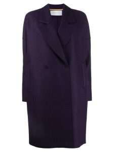 Harris Wharf London straight double-breasted coat - PURPLE