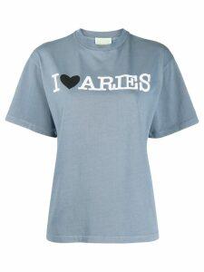 Aries logo print T-shirt - Blue