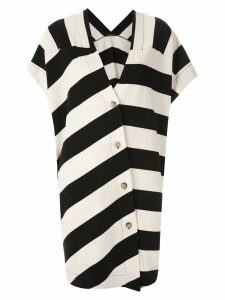 Osklen Classic Stripe Cool dress - White