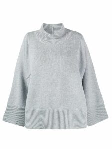 Fabiana Filippi ribbed neck jumper - Grey