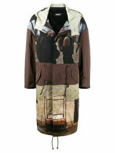 Undercover patchwork print coat - Multicolour