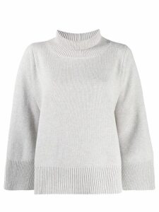 Fabiana Filippi ribbed neck jumper - Neutrals