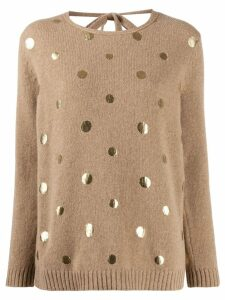 Piazza Sempione metallic dot jumper - Brown
