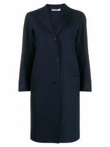 Jil Sander slim-fit button up coat - Blue