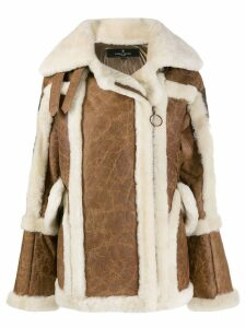 Nicole Benisti textured shearling coat - Brown