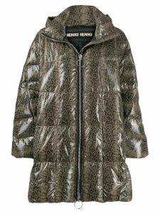 Ienki Ienki printed puffer jacket - Brown