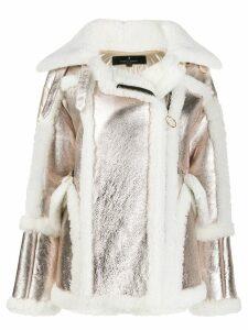 Nicole Benisti metallic shearling coat - Gold