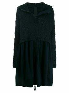 Rundholz Black Label knitted hooded cardi-coat - Blue