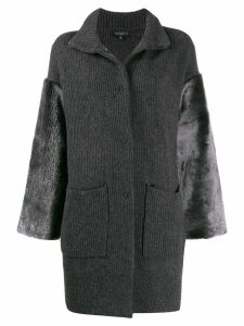 Antonelli knitted cardi-coat - Grey