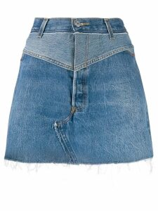 Re/Done A-line denim skirt - Blue
