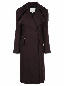 Tibi oversized collar coat - Brown