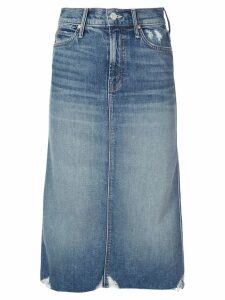 Mother The Swooner denim skirt - Blue