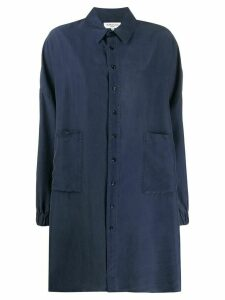 YMC silk shirt dress - Blue