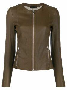 Drome zip up short jacket - Green