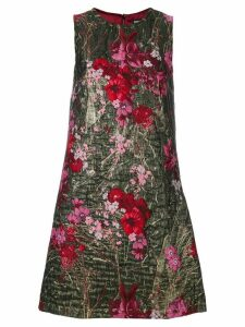 Dolce & Gabbana floral brocade mini dress - Metallic