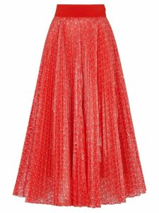 Fendi Fendi Roma Amor pleated skirt - Red