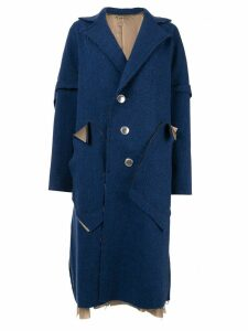 Sulvam deconstructed single-breasted coat - Blue