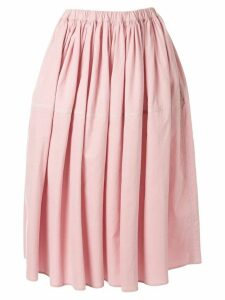 Sara Lanzi high-waist gathered skirt - Pink