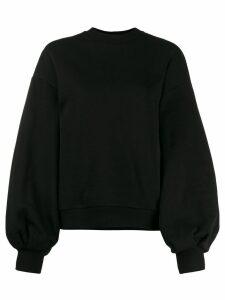 MSGM puffed sleeves sweatshirt - Black