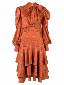 Johanna Ortiz A Typical Tropics Tiered maxi dress - Orange