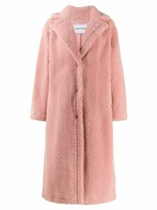 STAND STUDIO oversized faux-shearling coat - Pink