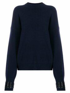 Alexander Wang embellished-cuff sweater - Blue
