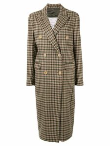 Giuliva Heritage Collection The Cindy check-print coat - Green