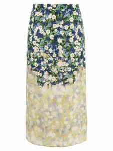 Rokh floral print skirt - Neutrals