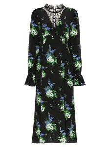 Les Reveries daffodil print midi dress - Black