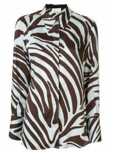 3.1 Phillip Lim zebra print shirt dress - Blue