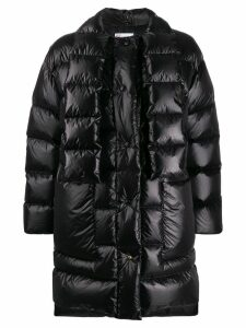 Red Valentino scarf detail padded coat - Black