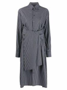 Mm6 Maison Margiela striped tie waist midi dress - Black
