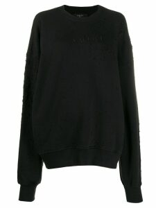 Amiri distressed oversized sweatshirt - Black