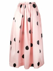 Christopher Kane full shape polka dot print skirt - BLACK & PINK