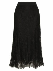 Dolce & Gabbana fluted lace midi skirt - Black