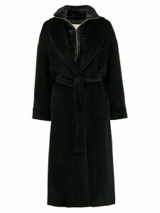 Herno layered belted coat - Black