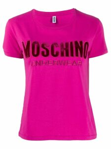 Moschino short sleeved felted T-shirt - Pink